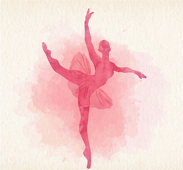 矢量职业人物所需点数: 0 点 关键词: 粉色芭蕾舞女郎剪影矢量素材