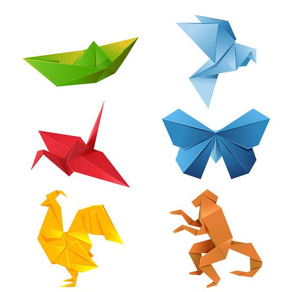 矢量传统文化所需点数: 0 点 关键词: 折纸艺术矢量素材,折纸动物