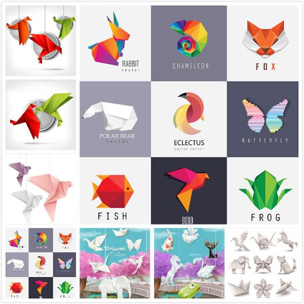 点 关键词: 折纸动物矢量素材,插画风景,折纸艺术,折纸动物,青蛙,小猫