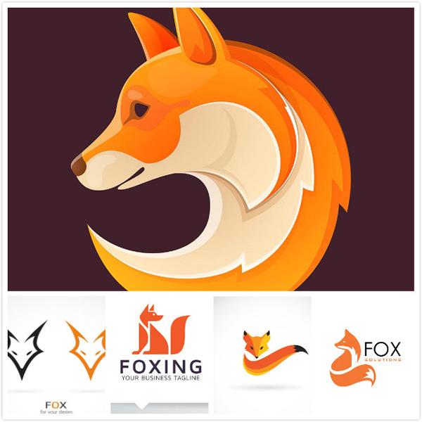 创意logo,抽象logo,狐狸形象