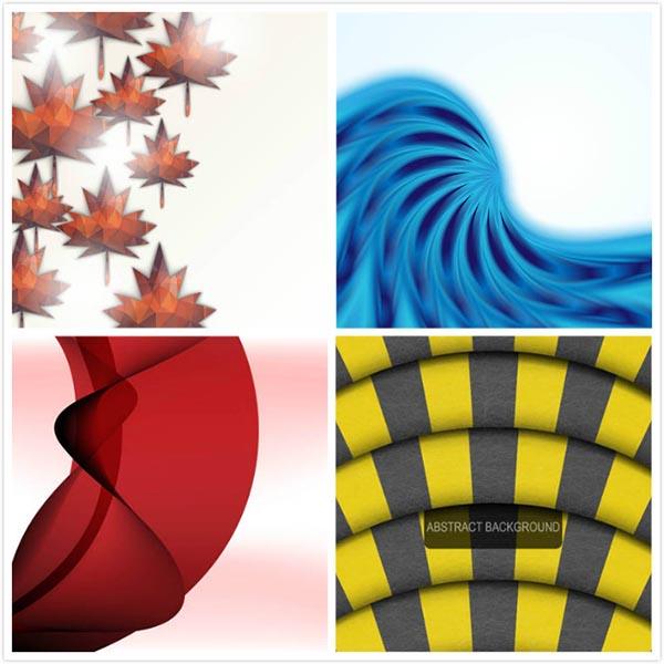 矢量图,设计素材,创意设计,抽象背景,树叶,叶子,低多边形,几何,波形