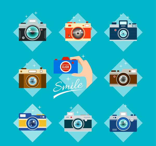 彩色照相机矢量