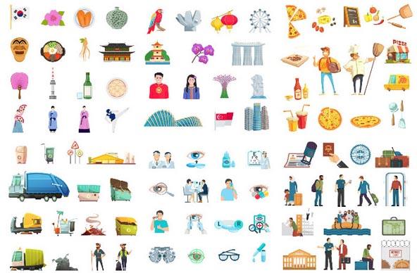卡通人物,卡通造型,生活场景,人物造型,人物图案,创意设计,创意图案