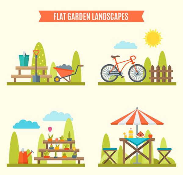 0 点 关键词: 花园风景矢量素材,风景矢量图,卡通风景矢量图,铁锨