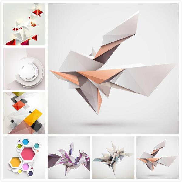 几何立体图案