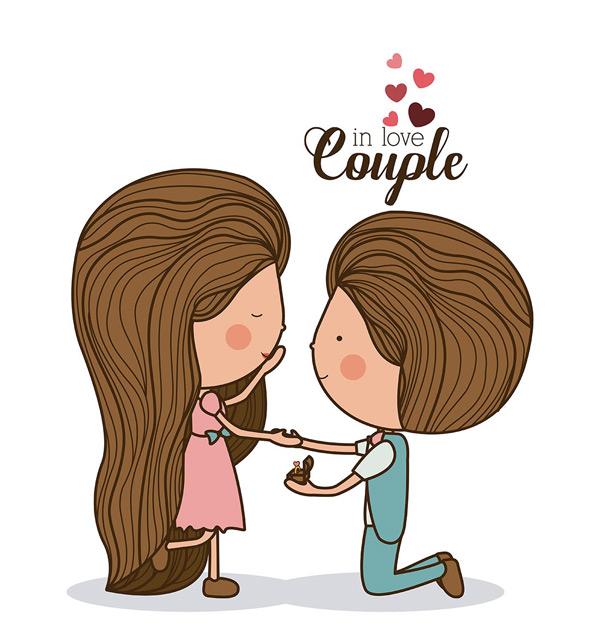 素材分类: 矢量生活人物所需点数: 0 点 关键词: 可爱求婚卡通形象