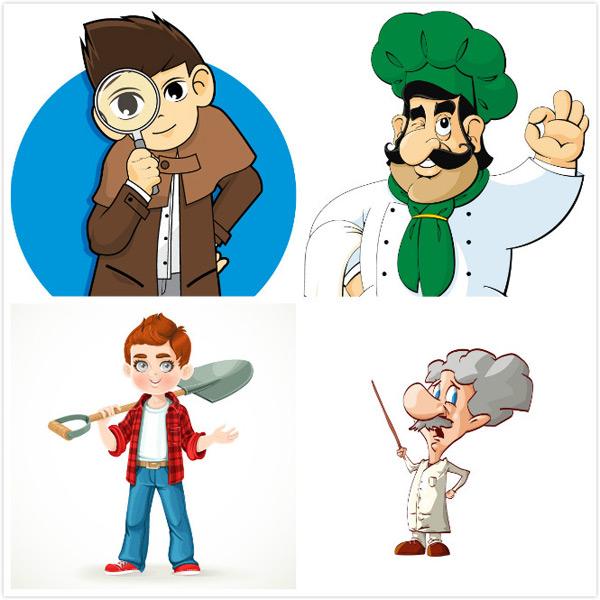 卡通人物,人物矢量,矢量人物,人物素材,职业,矢量素材,工人,格子衬衣
