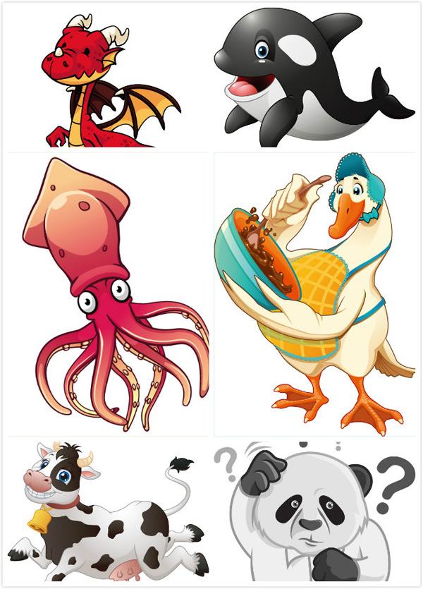 关键词: 卡通动物矢量素材,白鹅,卡通鹅,食物,动物素材,卡通动物,可爱