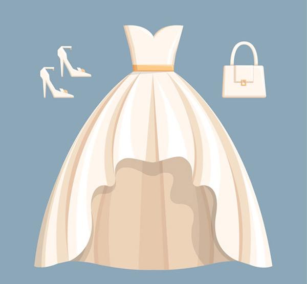 婚纱与配饰矢量