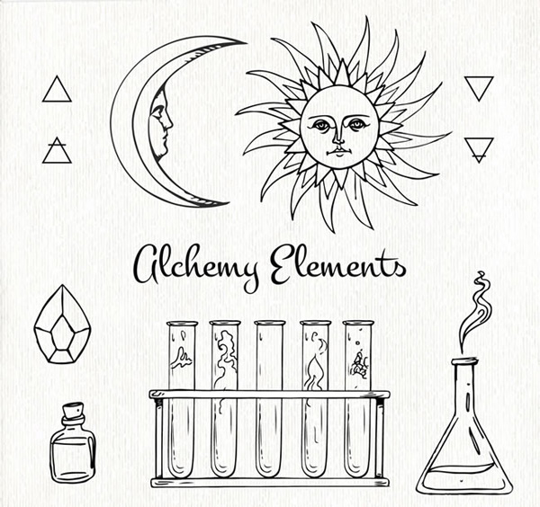 0 点 关键词: 手绘炼金术元素矢量素材,炼金术元素,手绘矢量图,三角形