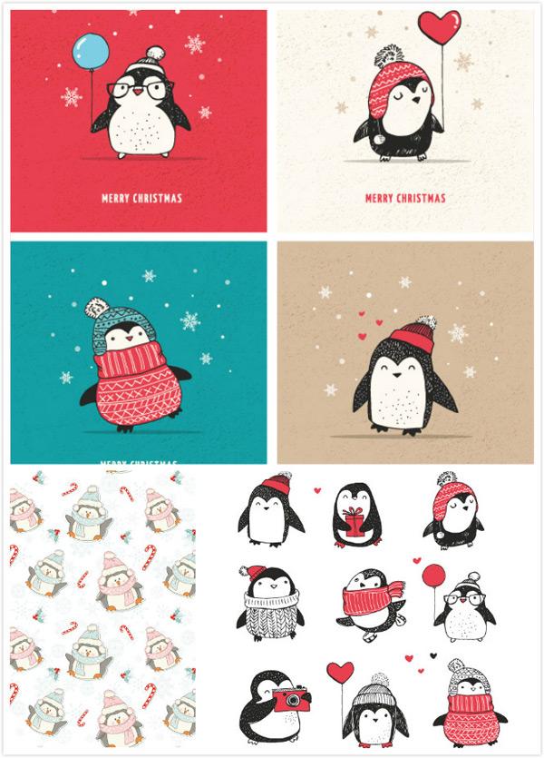 企鹅卡通动物