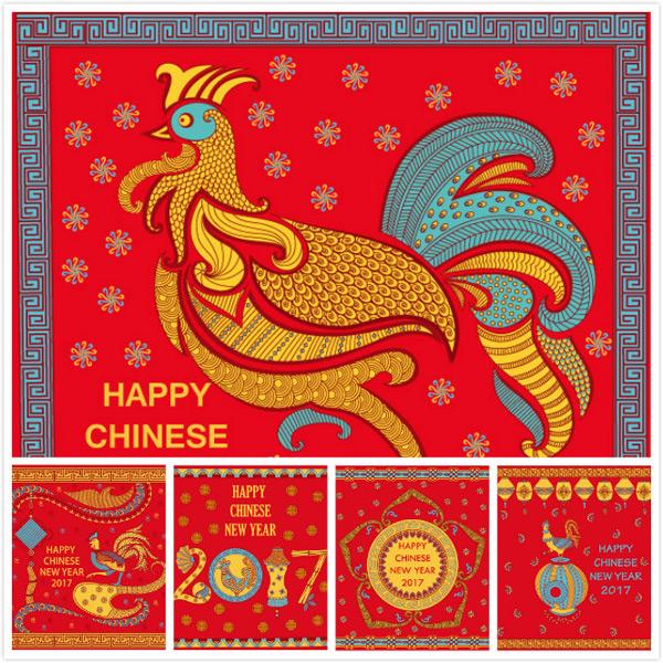 公鸡灯笼新年
