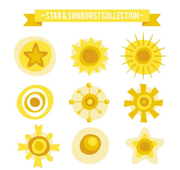 太阳和星星矢量