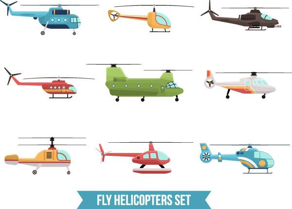 素材分类: 矢量交通所需点数: 0 点 关键词: 卡通飞机直升机矢量素材