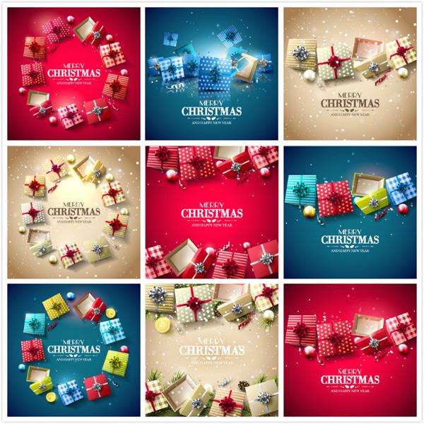 圣诞节礼物矢量