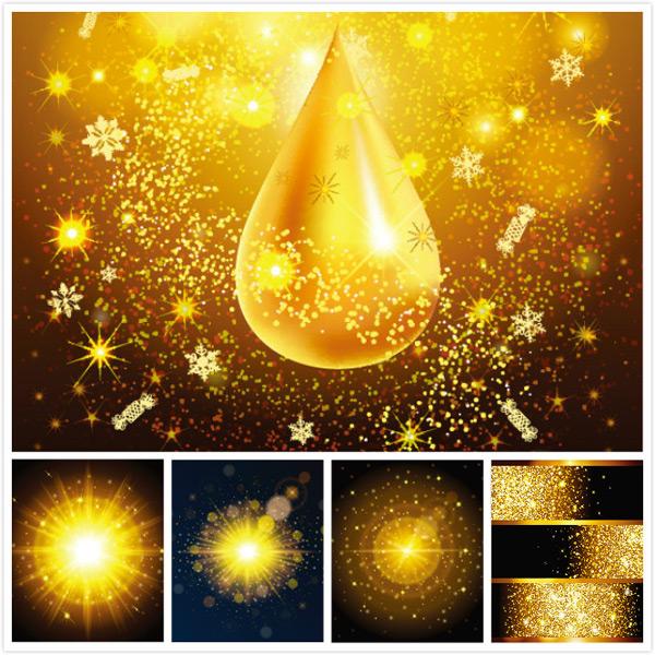 金色粒子背景,质感背景,奢华背景,闪光背景,矢量素材,初生的太阳,黄色