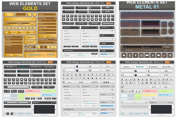 钮网页设计元素