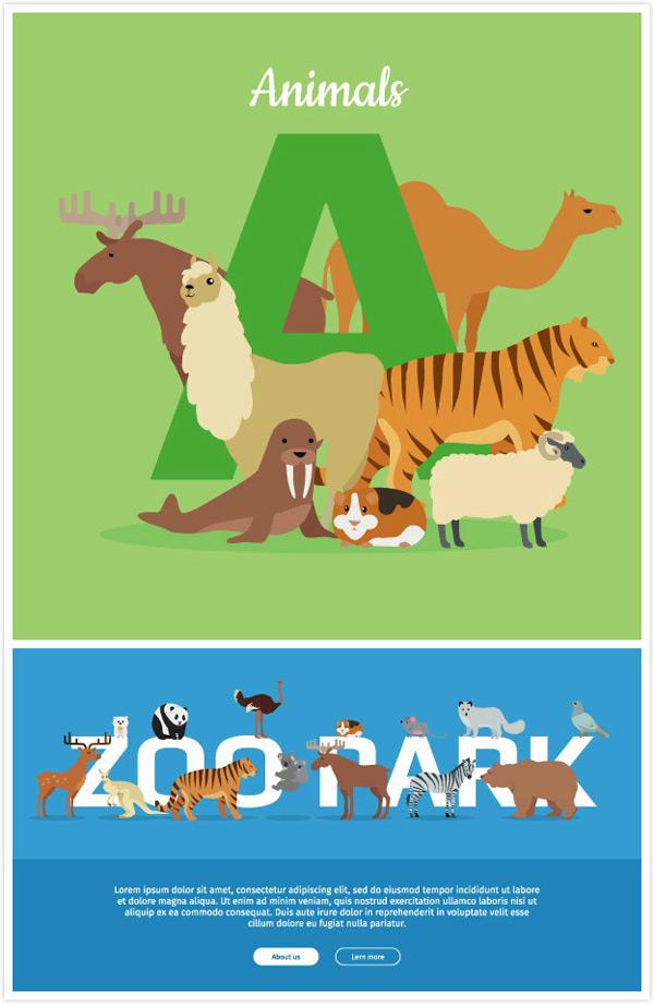 小动物和字母