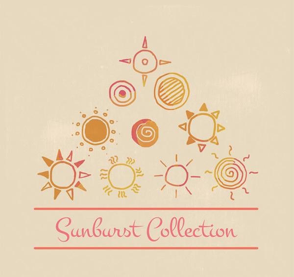 素材分类: 矢量图案所需点数: 0 点 关键词: 童趣手绘太阳设计矢量
