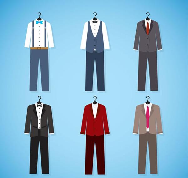 男士西装图片,男士,西装,西服,衬衫,马甲,服饰,男装,矢量图,ai格式