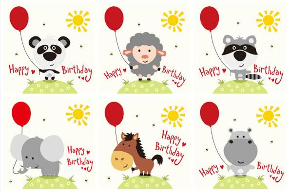 点 关键词: 卡通生日矢量素材,气球,太阳,蜜蜂,小毛驴,动物,卡通图画
