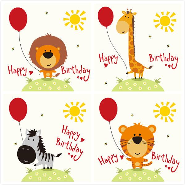 蜜蜂,动物,卡通图画,生日快乐,生日贺卡,创意卡通,矢量素材,长颈鹿