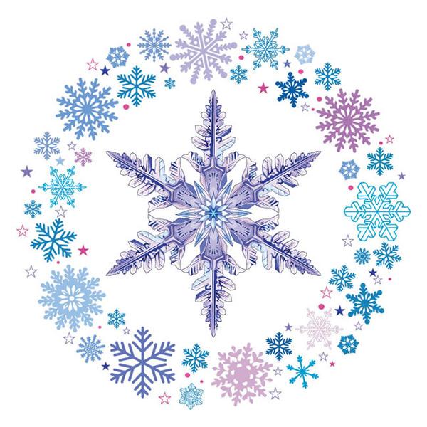 雪花环和冰晶
