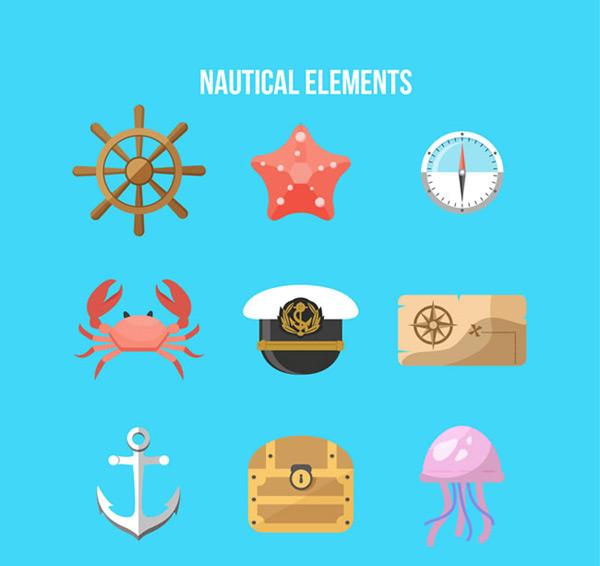 点 关键词: 彩色航海元素矢量素材,航海元素图标,航海图标,船舵,海星