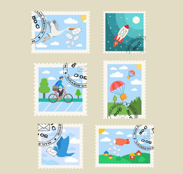 邮票设计矢量