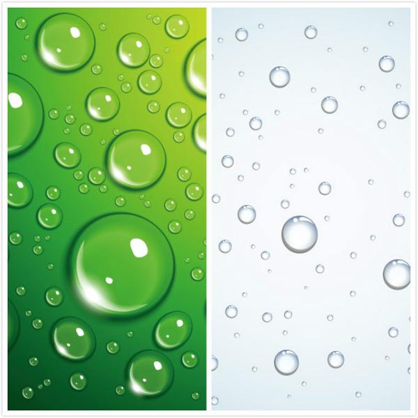 透明水珠矢量