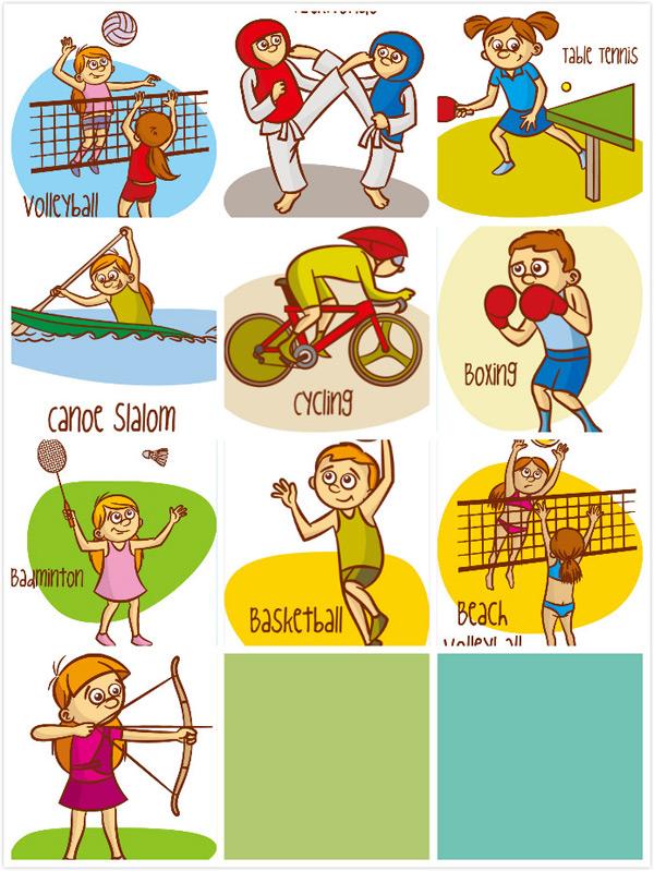 乒乓球,运动员,竞技运动,球类运动,体育项目,卡通运动,矢量素材