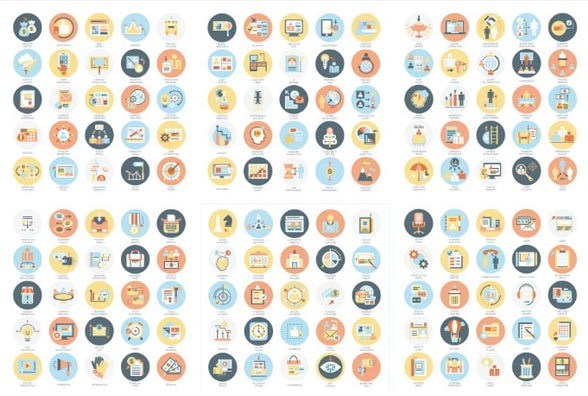 0 点 关键词: 多款圆形网络图标矢量素材,组织结构图标,理财图标