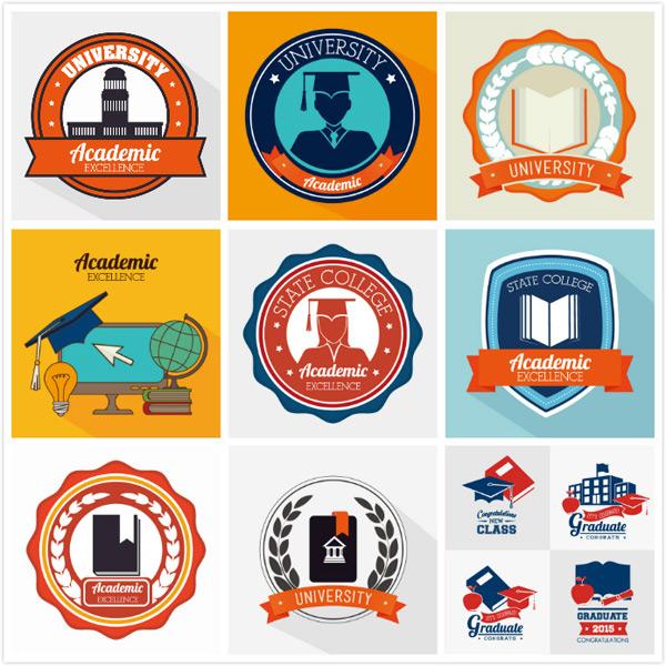 图形所需点数: 0 点 关键词: 大学logo矢量素材,,圆形logo,蓝色边框