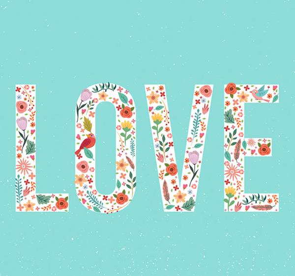 LOVE艺术字