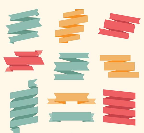 彩色丝带条幅