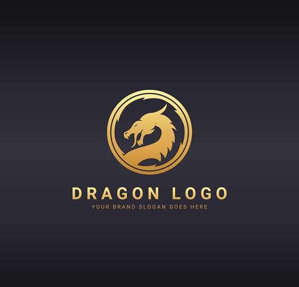 圆形龙头logo_素材中国sccnn.com图片