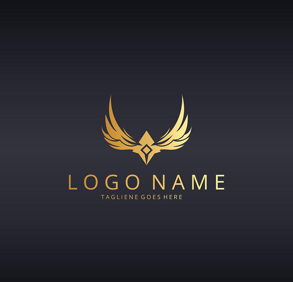 抽象翅膀logo