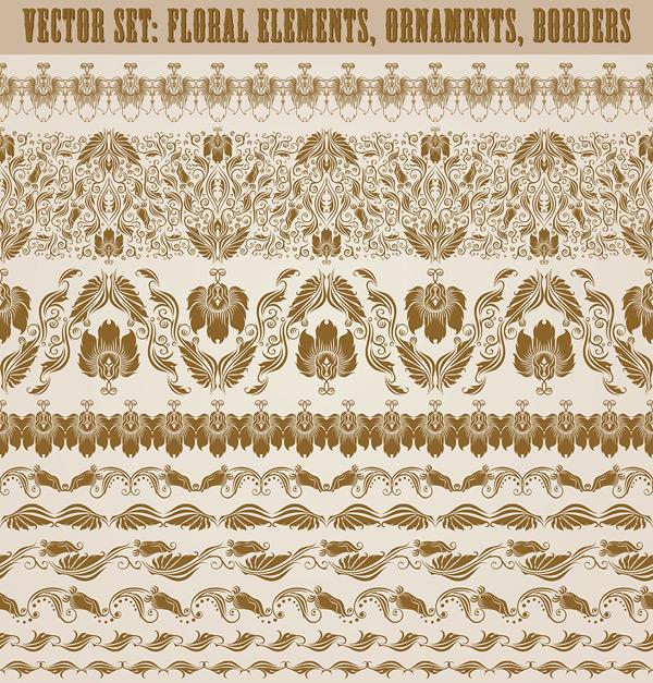 欧式复古花纹装饰边框矢量素材