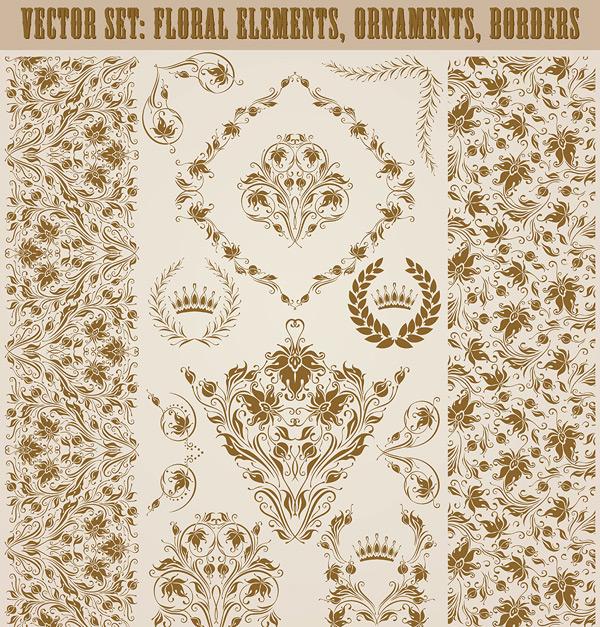 0 点 关键词: 欧式复古花纹装饰边框矢量素材,欧式边框,条形花纹边框