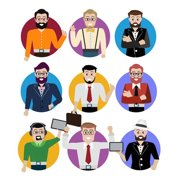 素材分类: 矢量职业人物所需点数: 0 点 关键词: 圆形职业男子头像