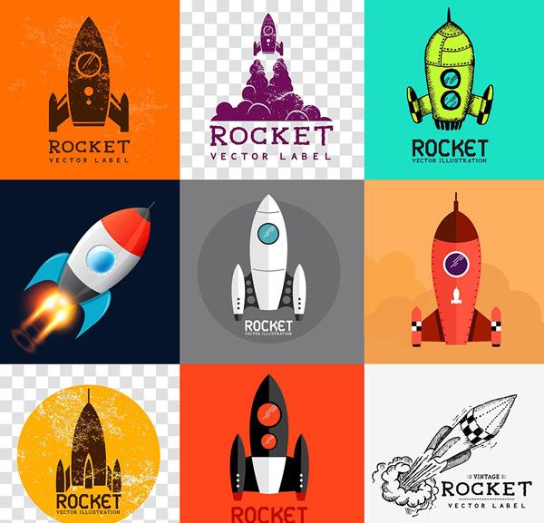 火箭,航天火箭,彩色火箭,火箭载体,卡通火箭,手绘火箭,火箭发射,火箭