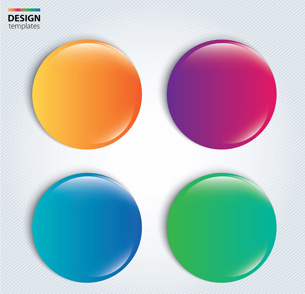 素材分类: 其它所需点数: 0 点 关键词: 立体彩色渐变纽扣徽章矢量