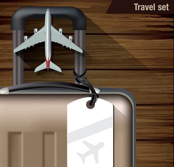 行李箱和飞机