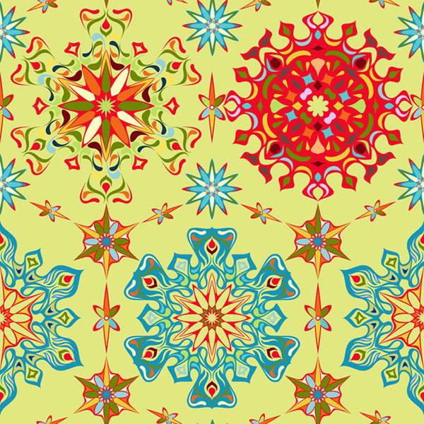 鲜艳抽象花纹