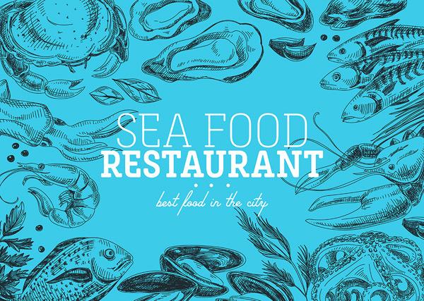 海鲜盛宴,海产品食物