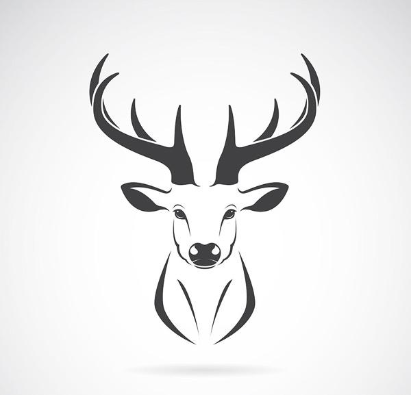 鹿logo矢量素材,鹿logo,鹿角,手绘logo,动物logo,创意logo,品牌logo