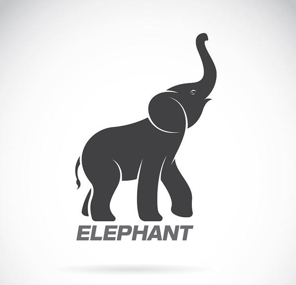 黑色大象logo