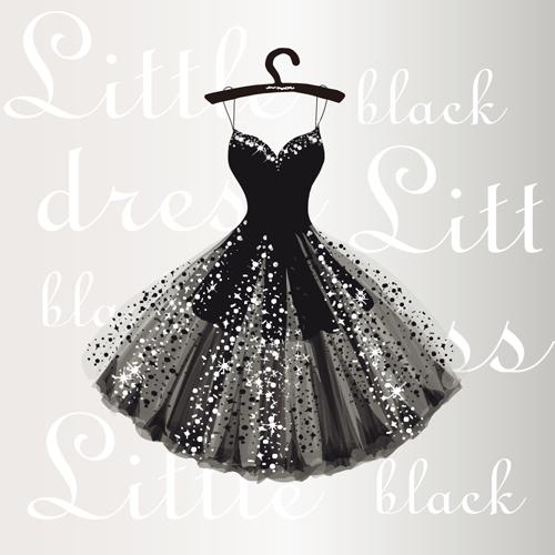 黑色晚礼服裙子