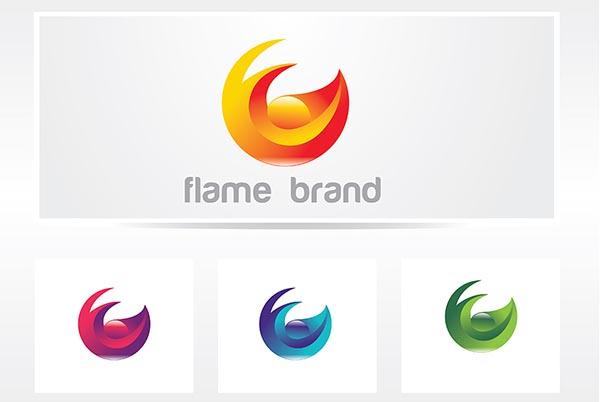 素材分类: 其它所需点数: 0 点 关键词: 彩色立体渐变火焰logo矢量