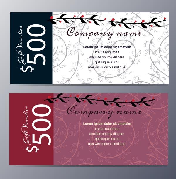 素材分类: 平面广告所需点数: 0 点 关键词: 花纹优惠券矢量素材下载